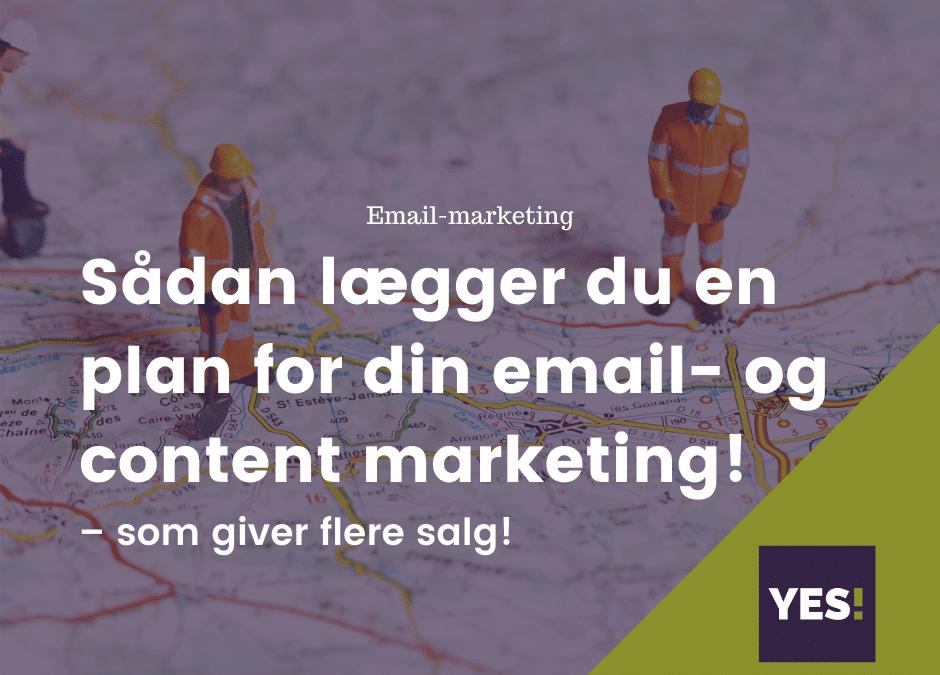 Roadmap til din email- og content marketingplan
