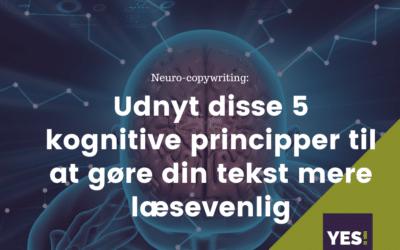 Udnyt de 5 kognitive principper, vi bruger, nårlæser